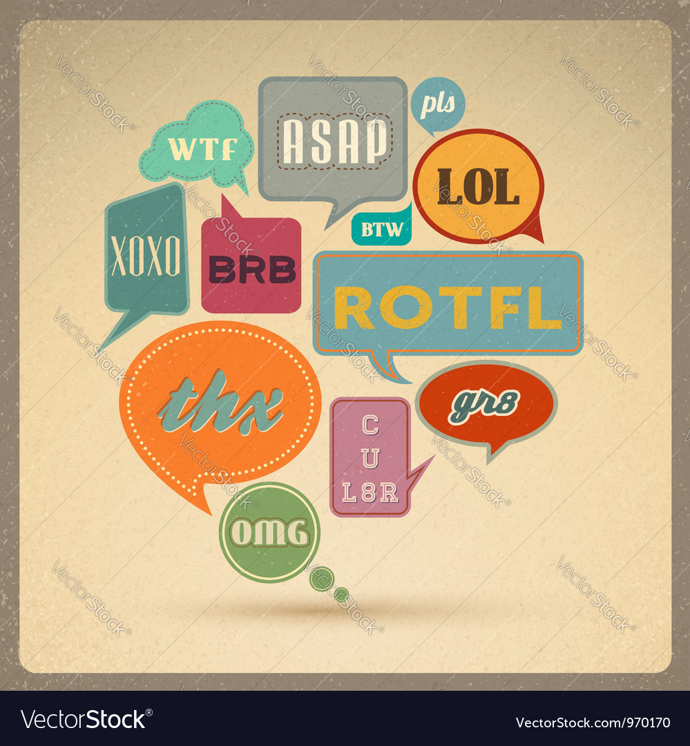 Retro style speech bubbles vector