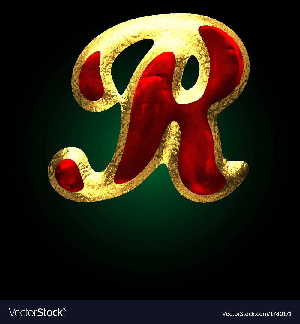 R Alphabet In Heart Alphabet R In Heart Wallpaper Gif Golden and red letter r vector by ...