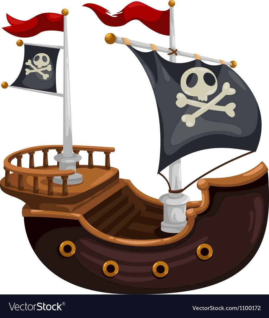 Shippirate ship vector