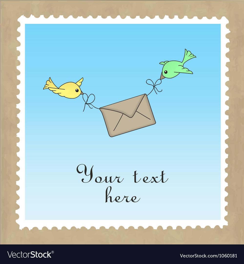 Birds delivering mail