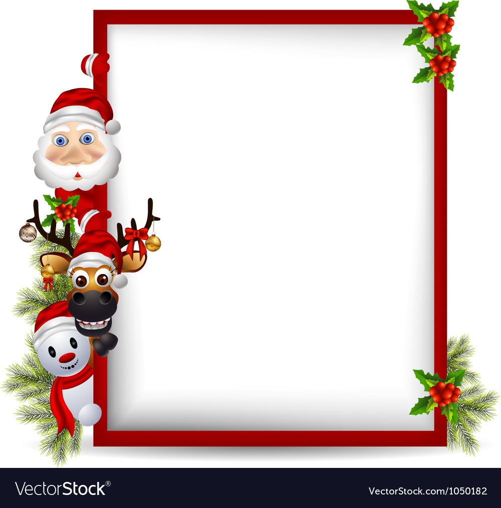 Santa Claus Borders Deer & santa vector images (over 3,030 ...