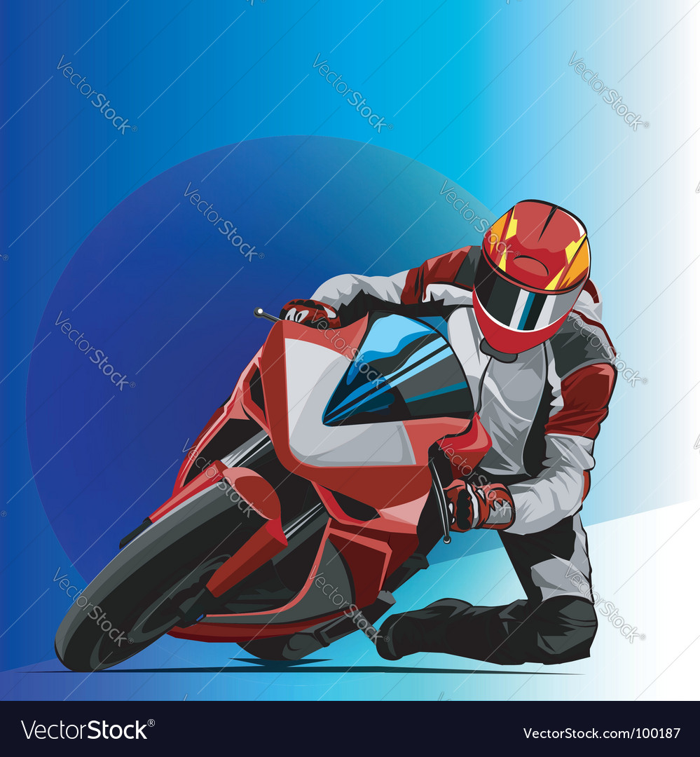 Bike racing vector