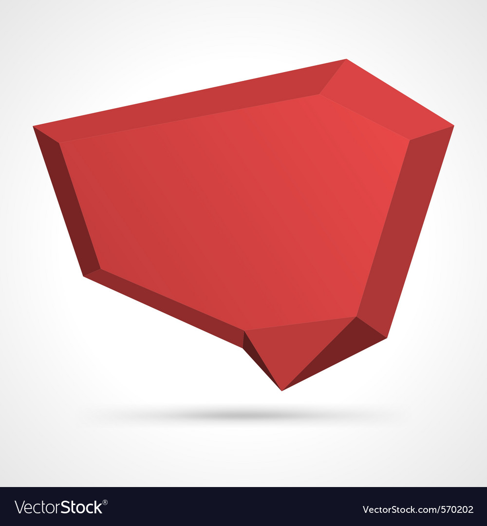 Angular speech bubble vector