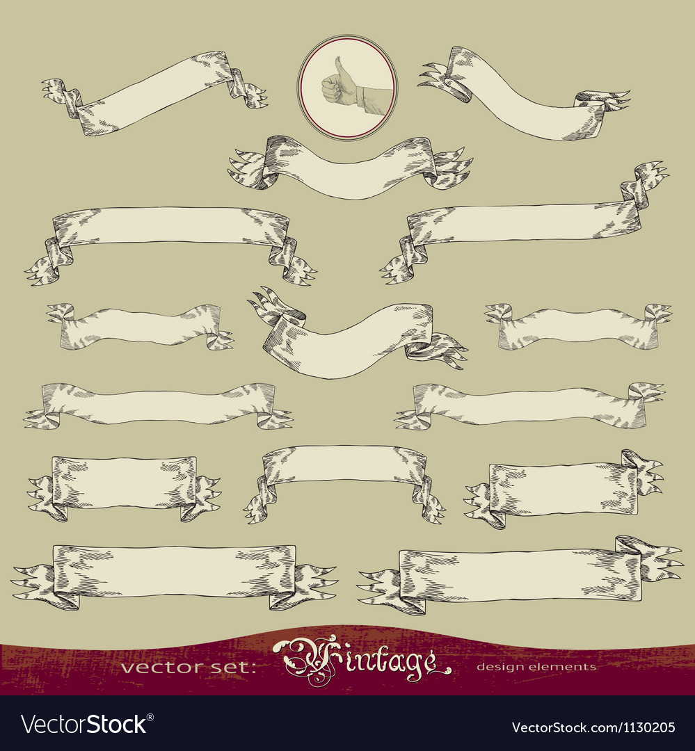 Vintage banners set vector