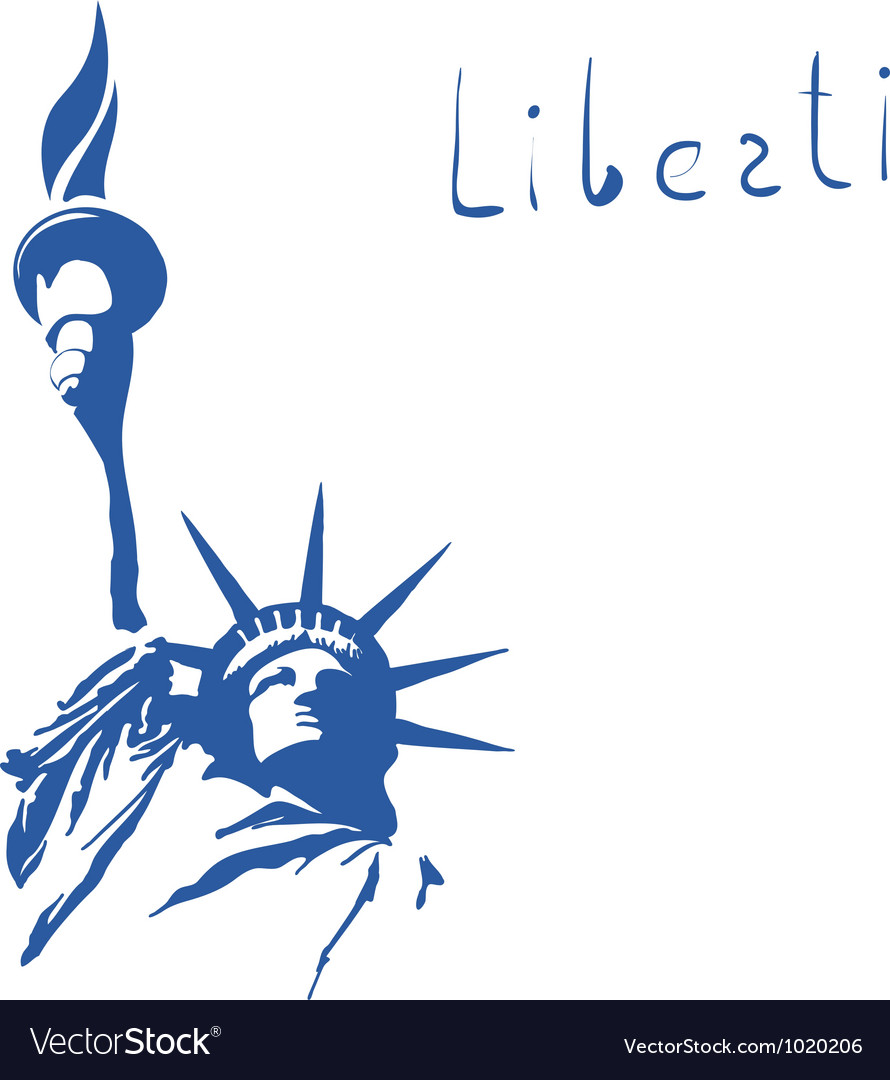 Statue of liberty sign vector