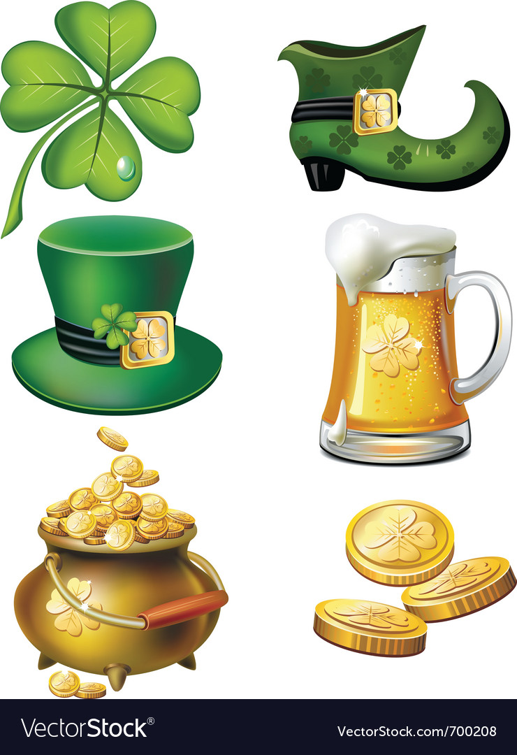 St patrick day set vector