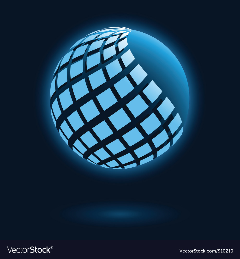 Abstract global icon vector