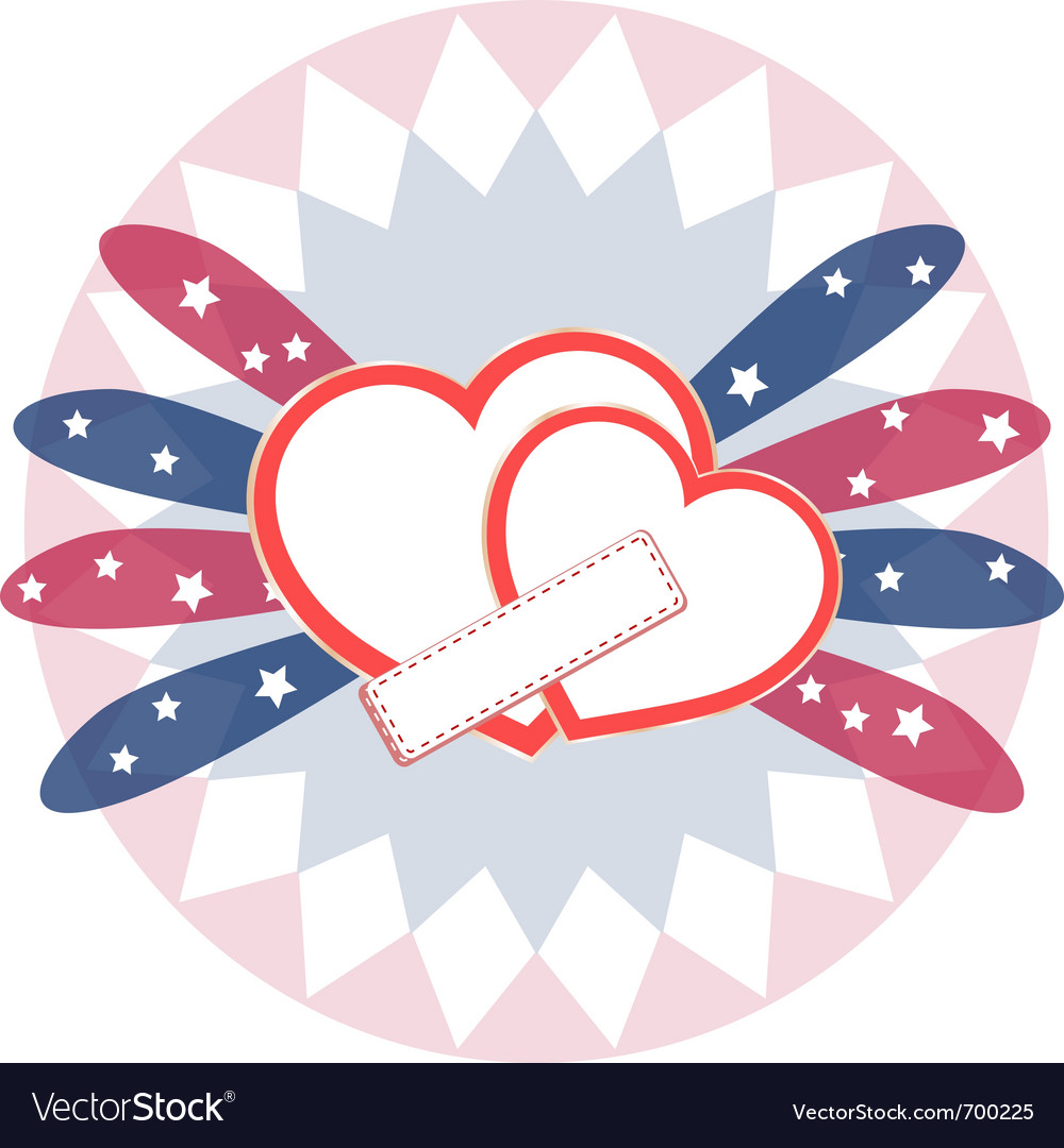 Heart love card vector