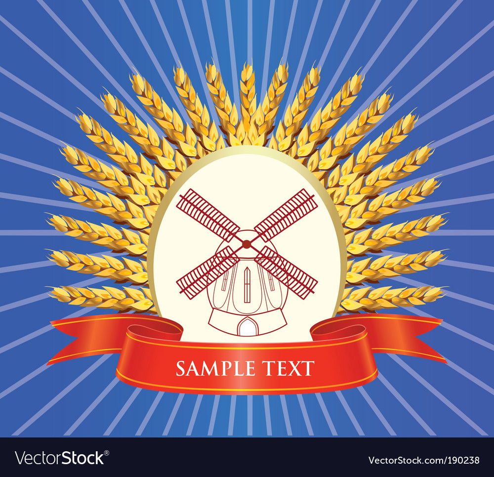 Grain food labels vector
