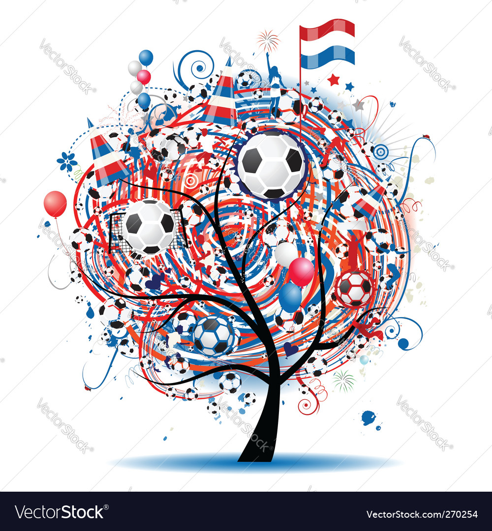 Football tree design vector