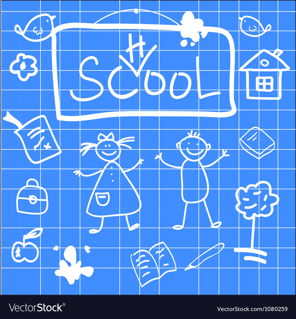 Fun of back to school sketch vector