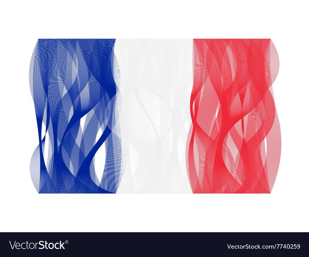 Wave line flag of france