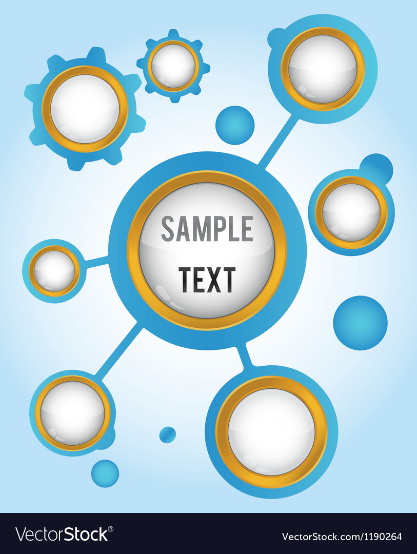 Template with buttons for icons symbol and text vector