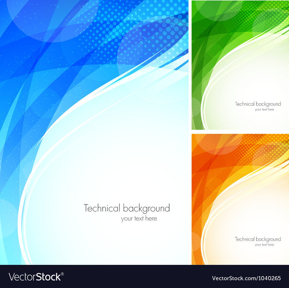 Set of tech backgrounds vector