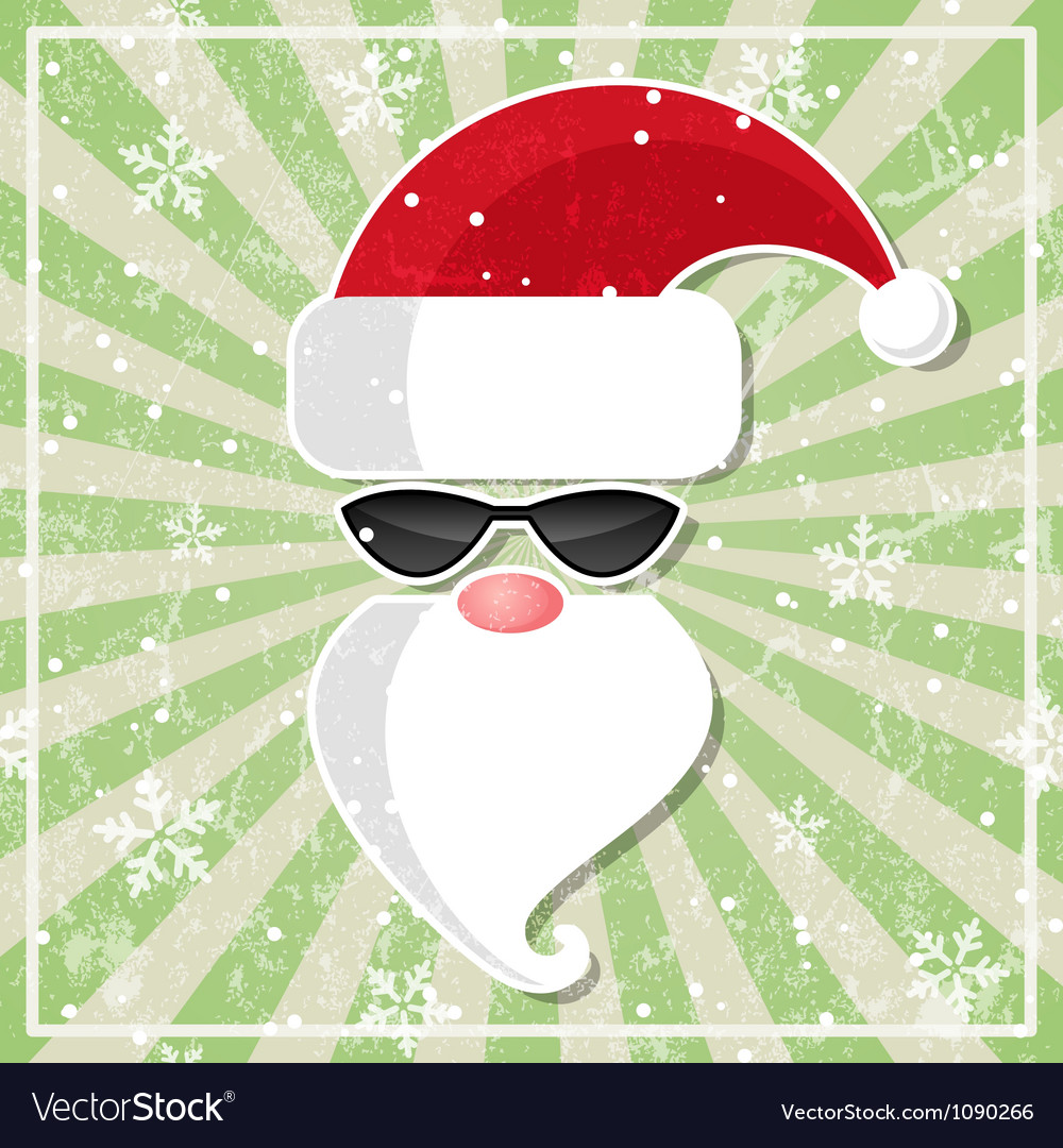 Santa in glasses with dark lenses vector