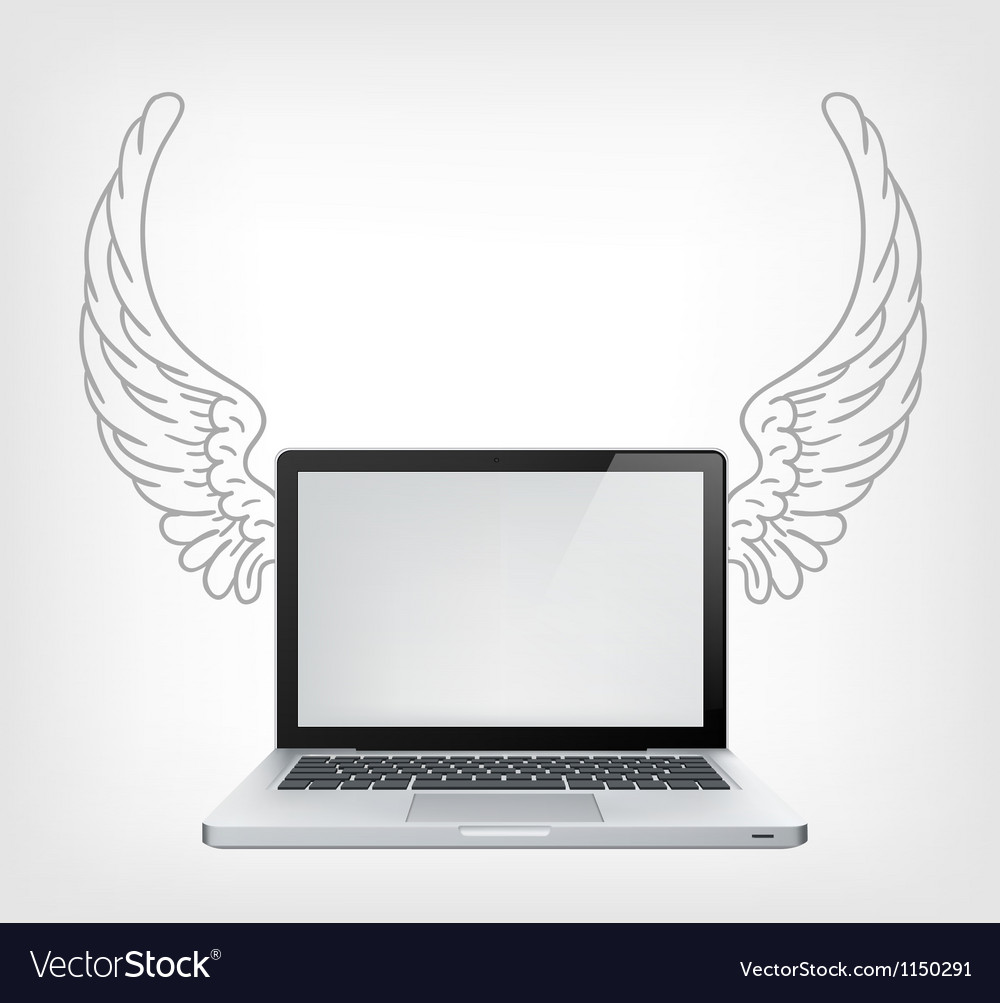 Laptop pc vector