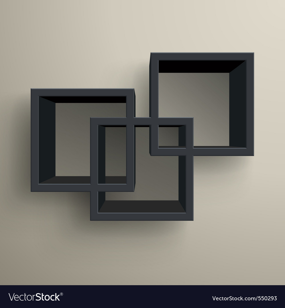 3d bookshelves vector