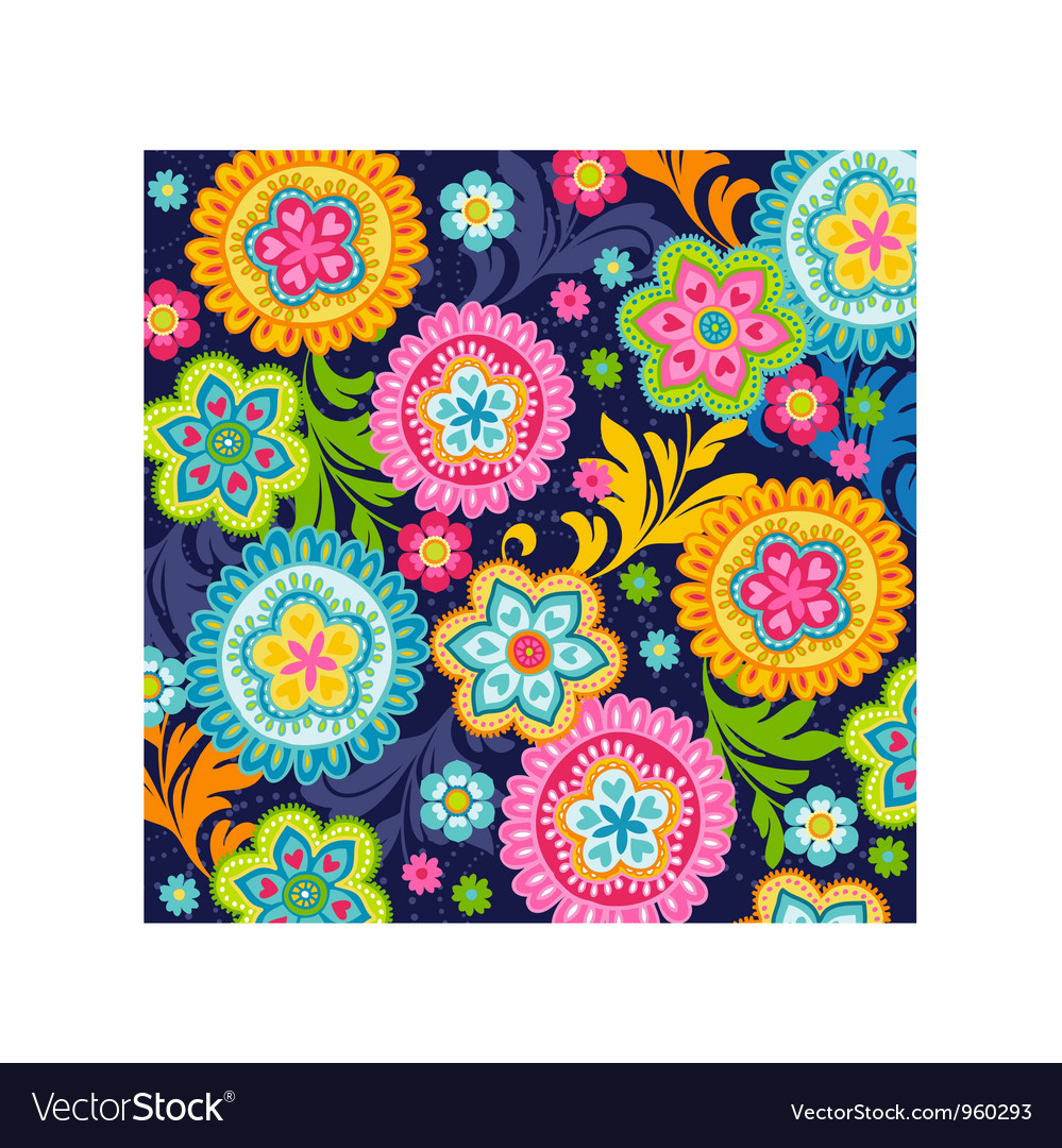 Ethnic flowers vector