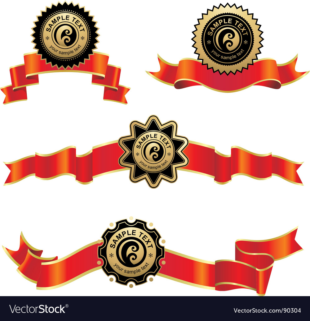Ribbon award vector