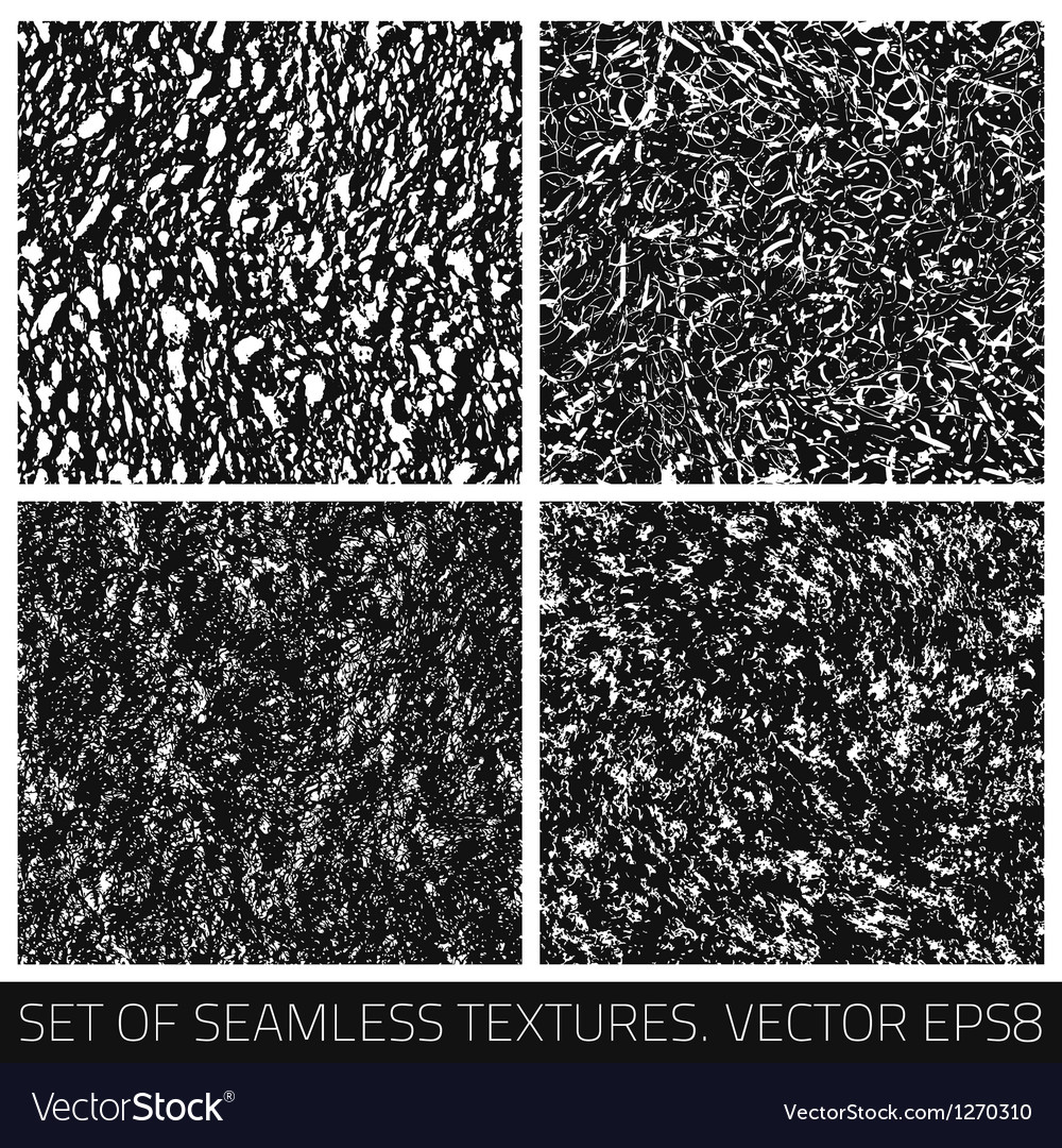 Set of seamless textures vector