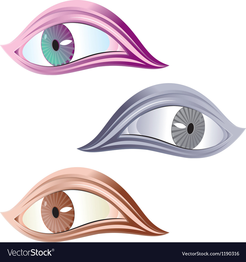 Free symbol of human eye vector
