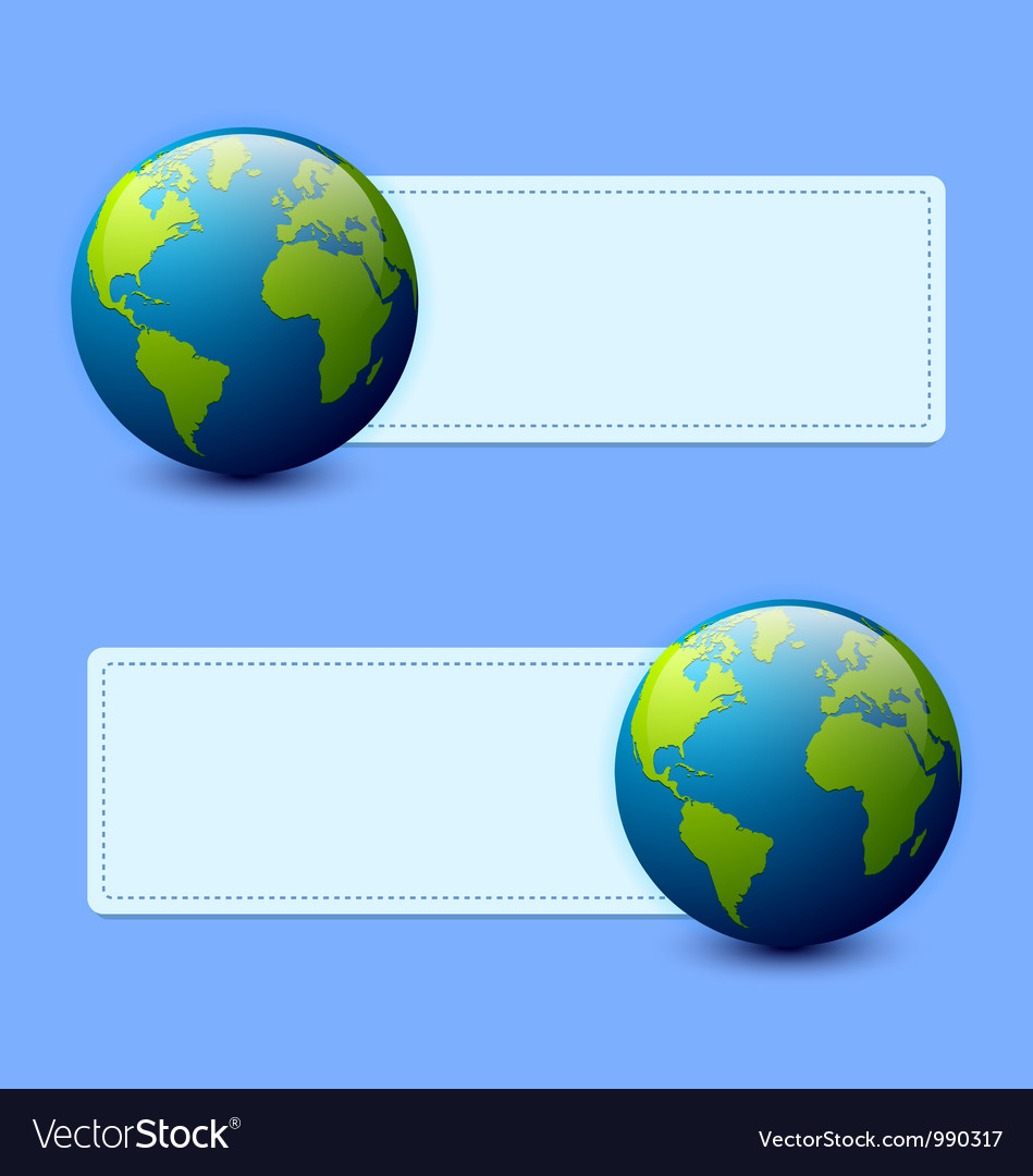 Planet earth banners vector