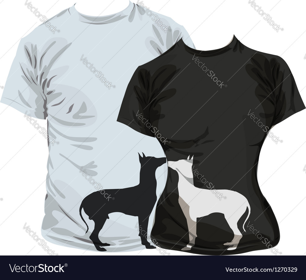 Dogs tshirt vector