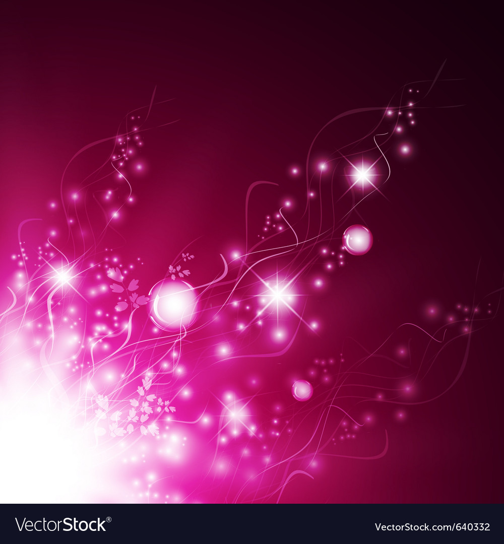 Magic floral abstract vector