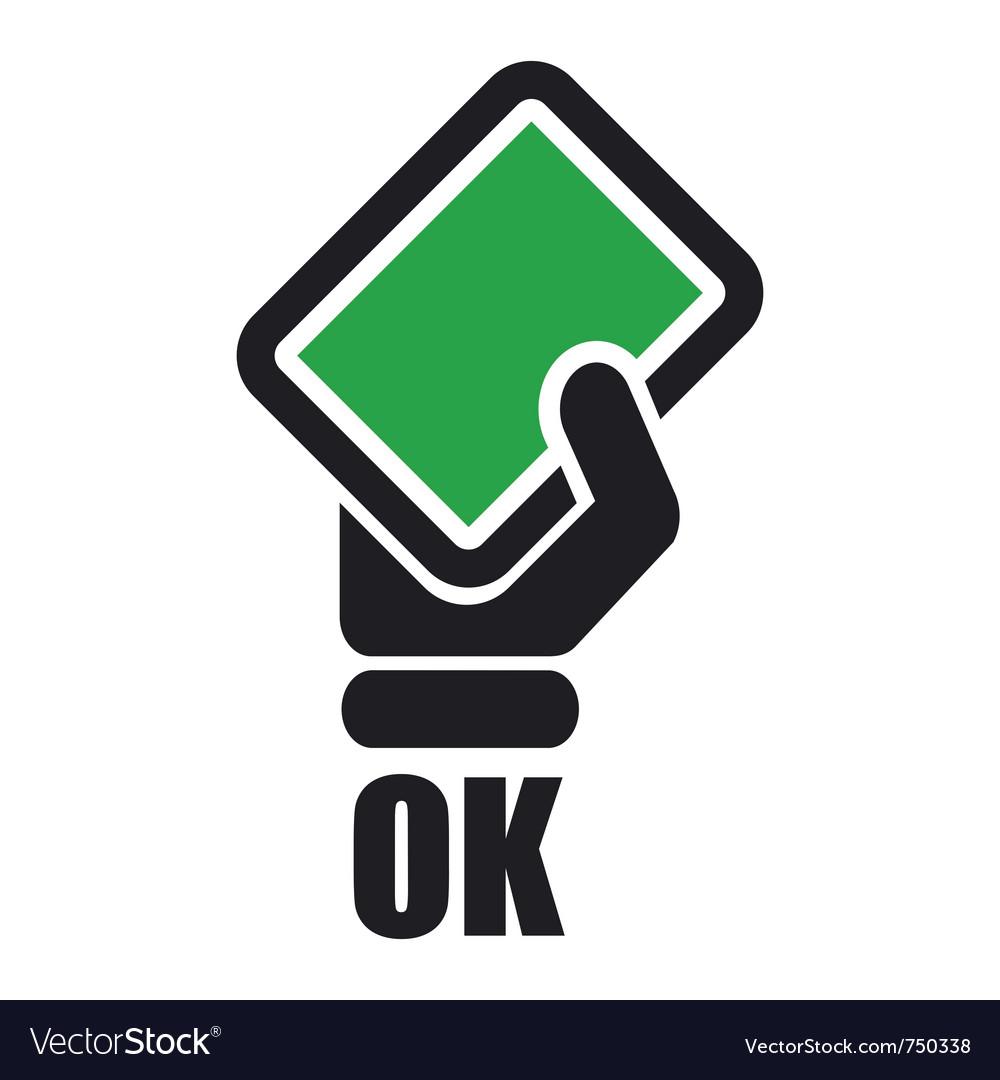 Green card icon vector by antony esse image 750338 vectorstock
