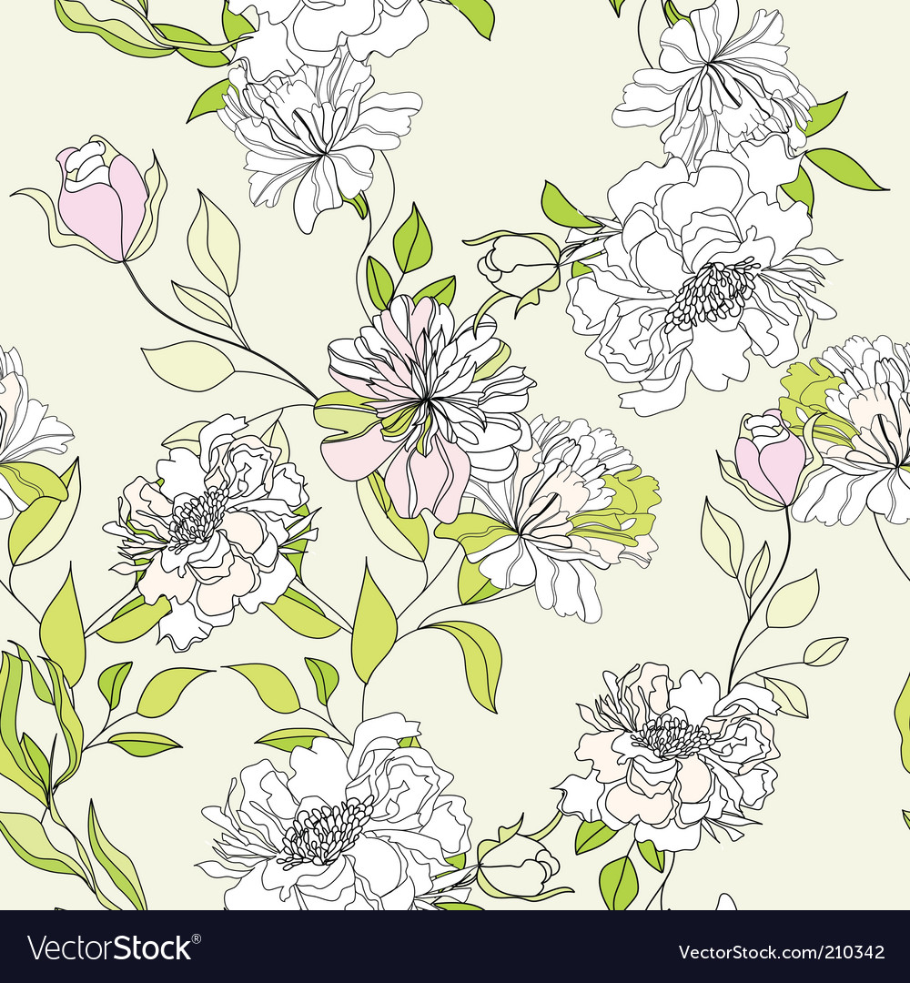 Romantic seamless wallpaper vector