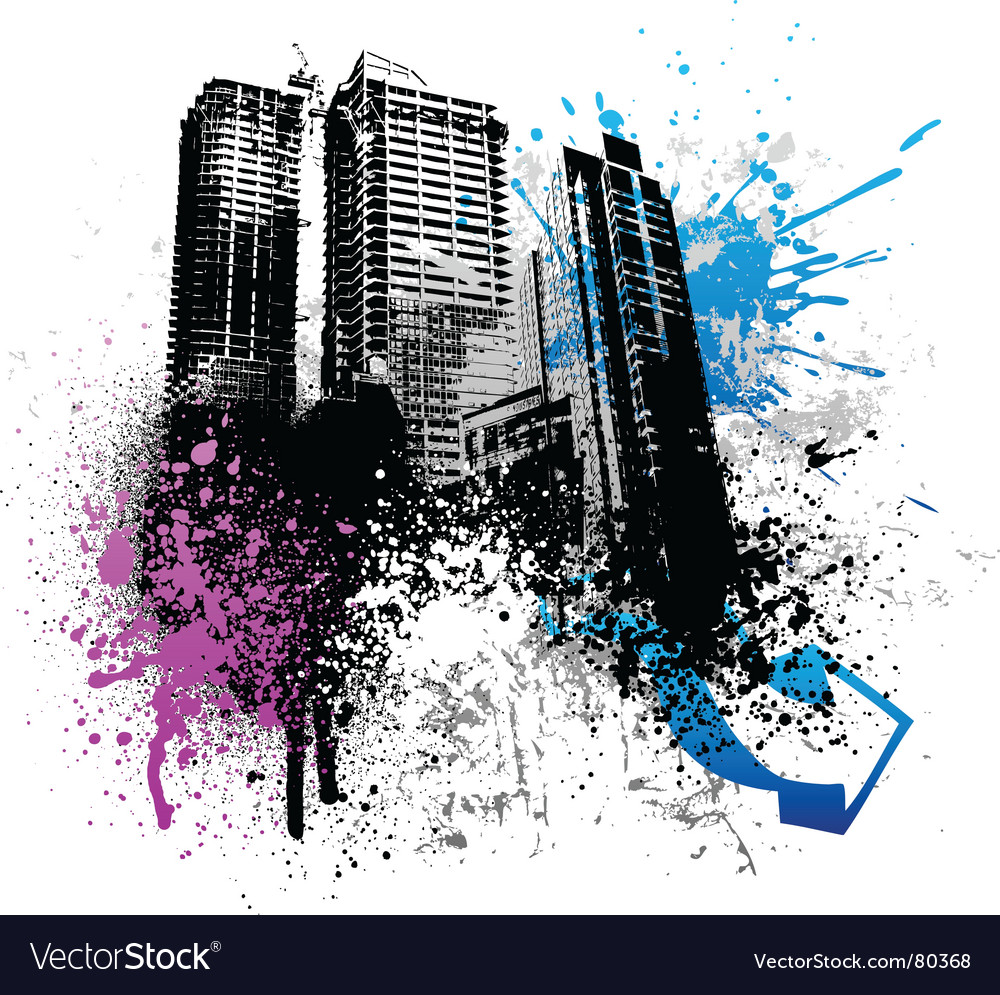 Grunge city design vector