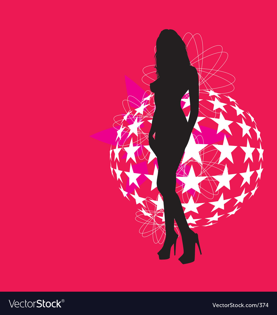Free sexy silhouette vector