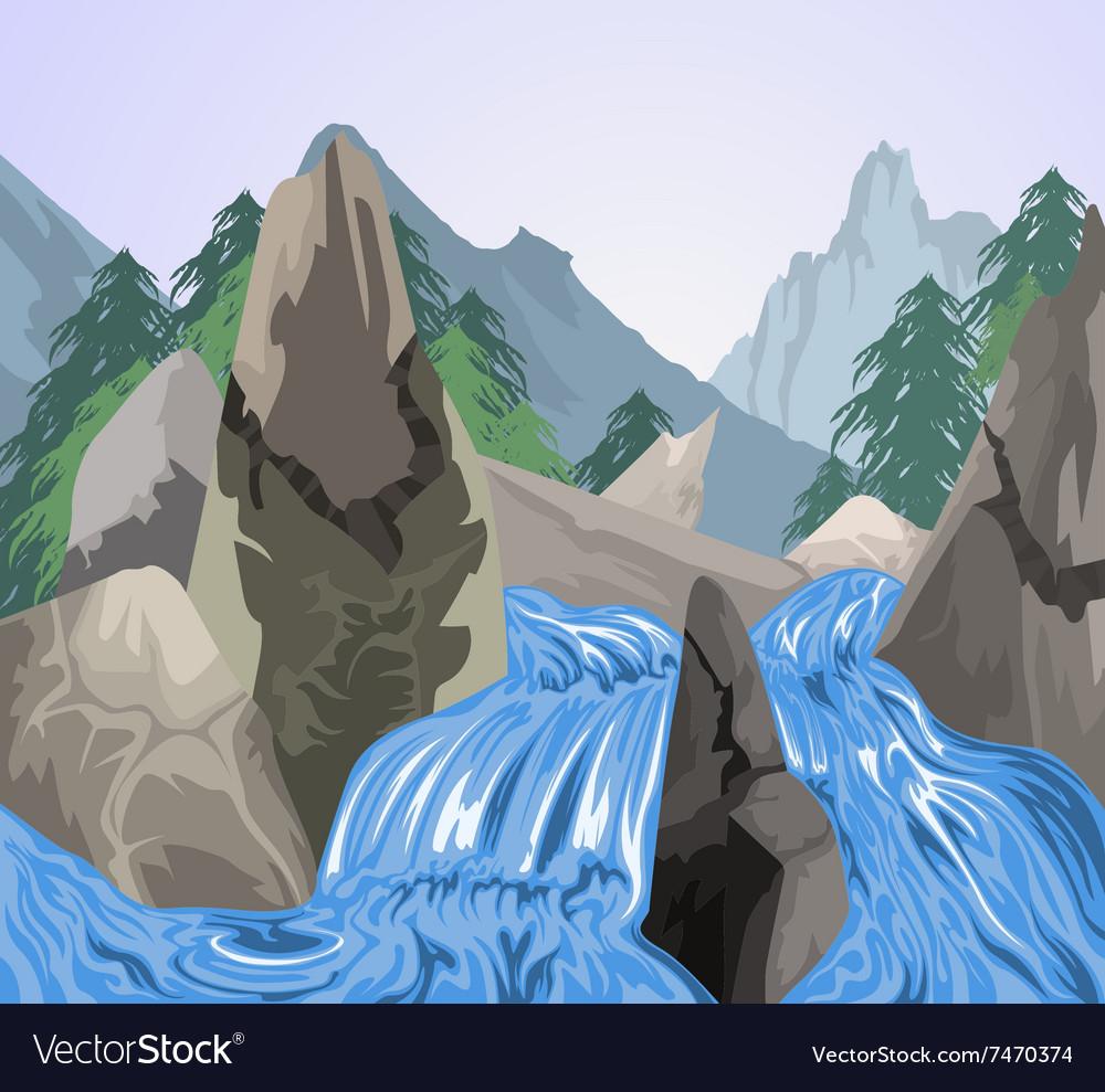 Waterfall nature