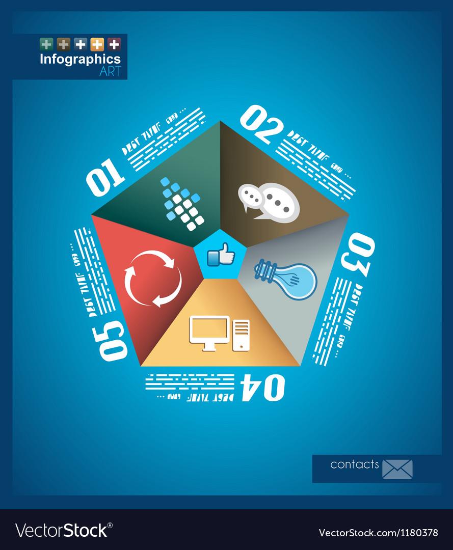Infographic design original paper shapes vector by DavidArts ...