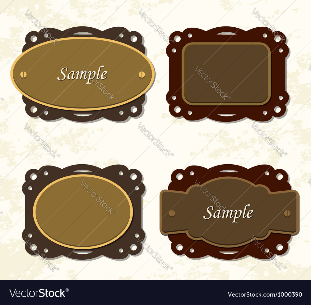 Vintage coffee and chocolate badges vector