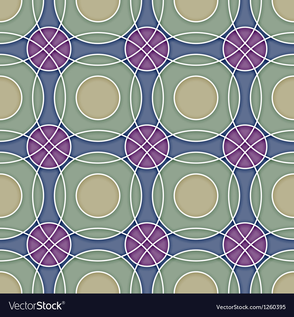 Seamless ceramic circles background vector