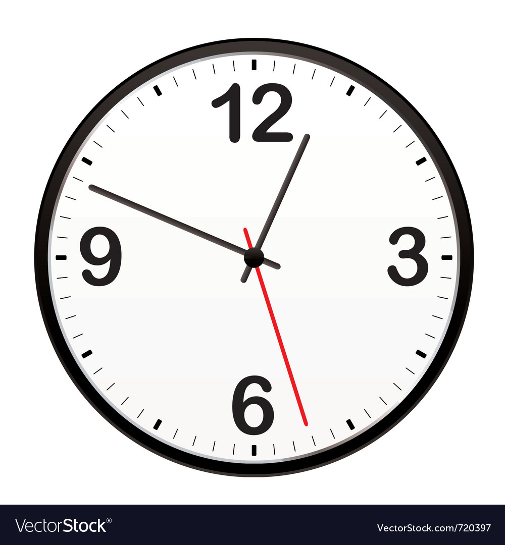 Illustrated clock vector