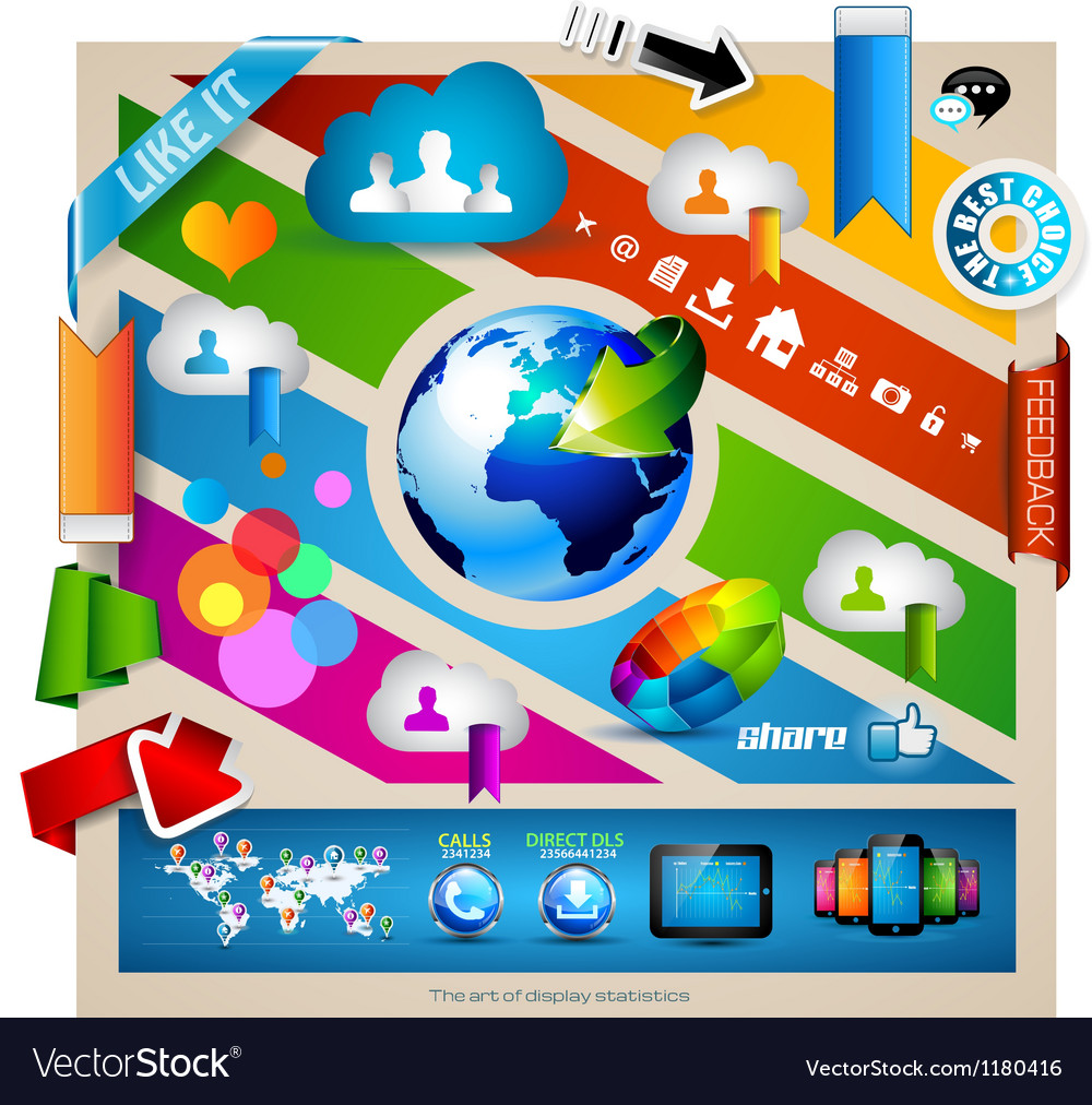 Infographic with cloud computing concept  vector