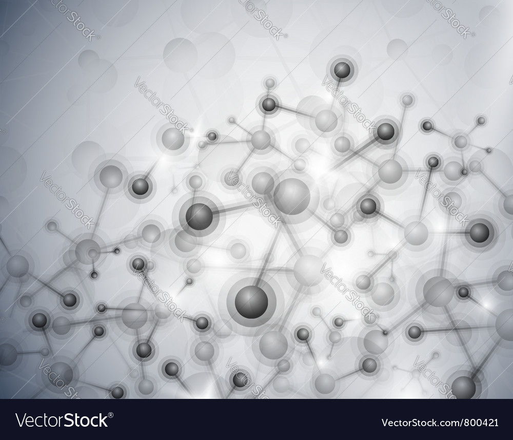 Abstract molecular background vector