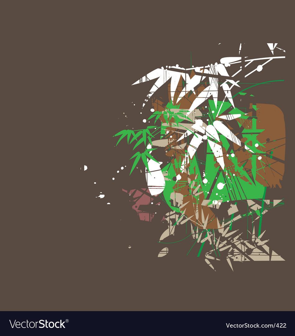 Free tropical jungel green vector