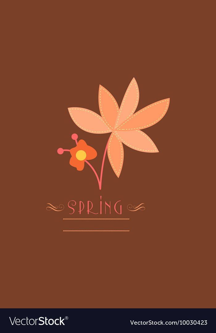 With spring flower and