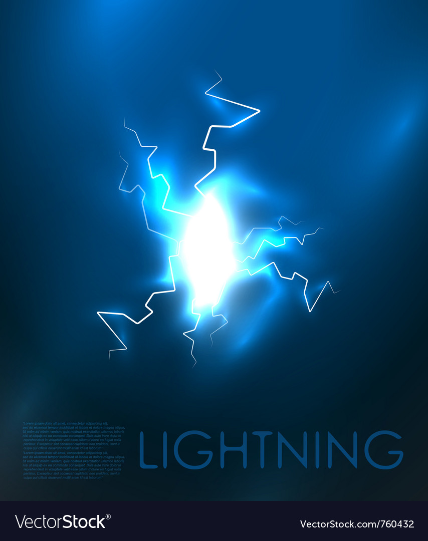 Abstract lighning background vector