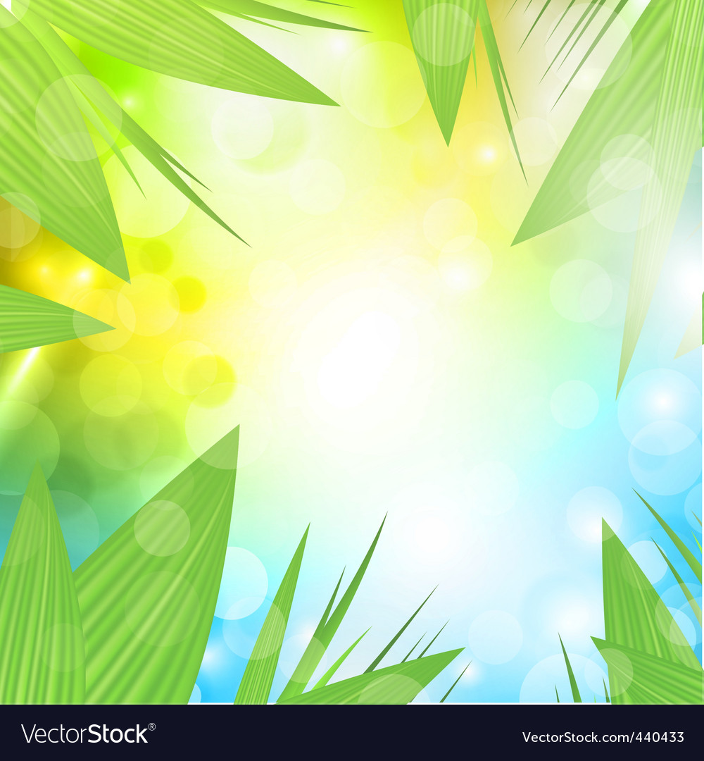 Nature background vector by Razvodovska - Image #440433 - VectorStock
