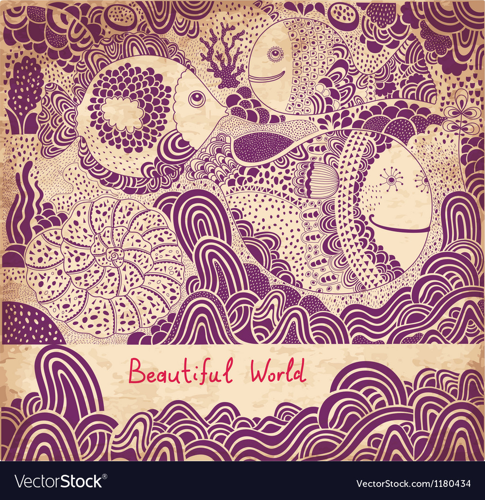 Beautiful world abstract vector