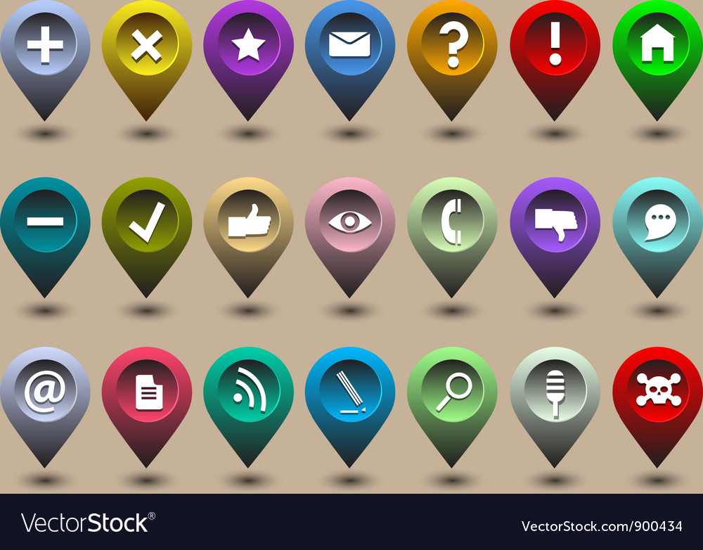 Collection different web icons vector