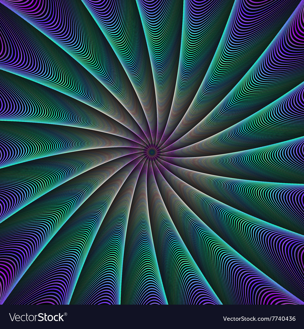 Abstract color fractal ray background