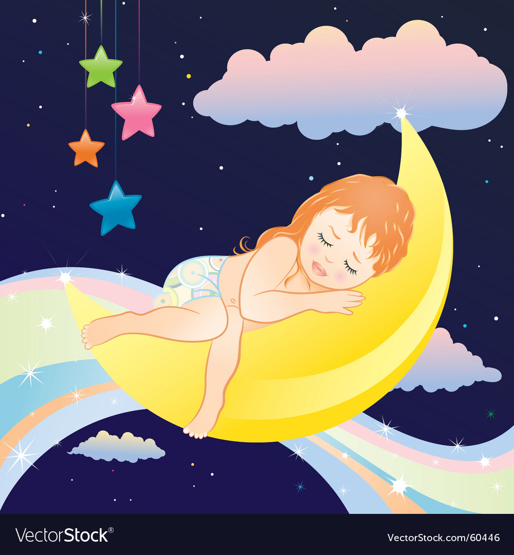 Sleeping girl vector