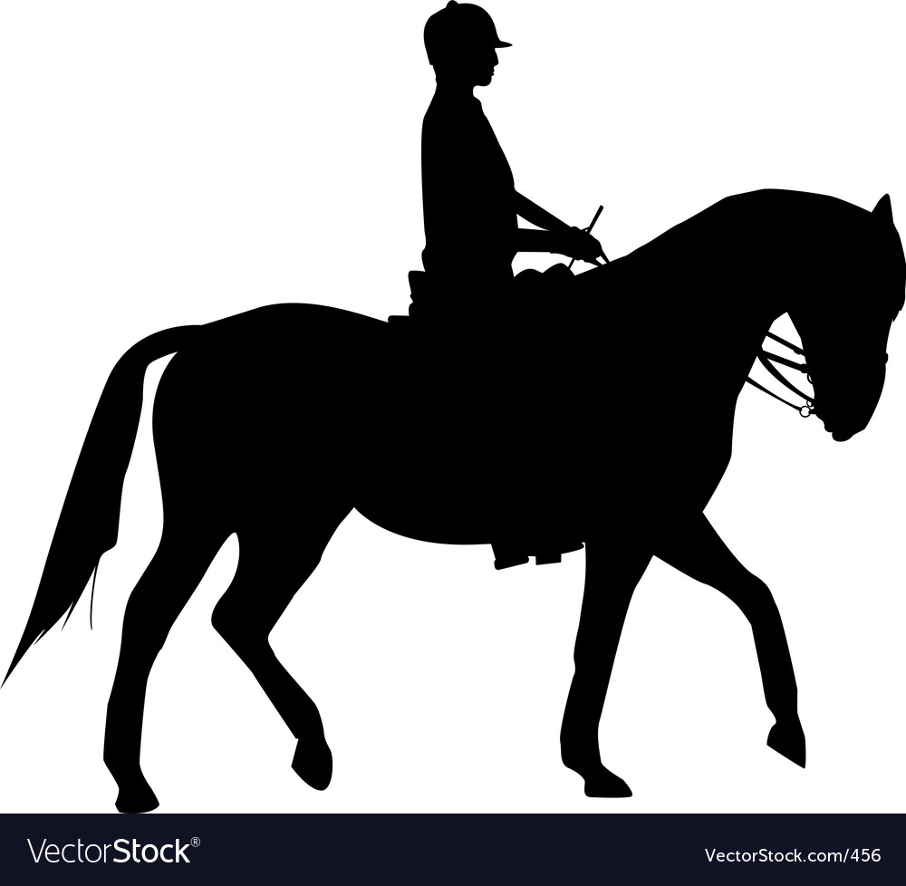 Free woman on horse vector