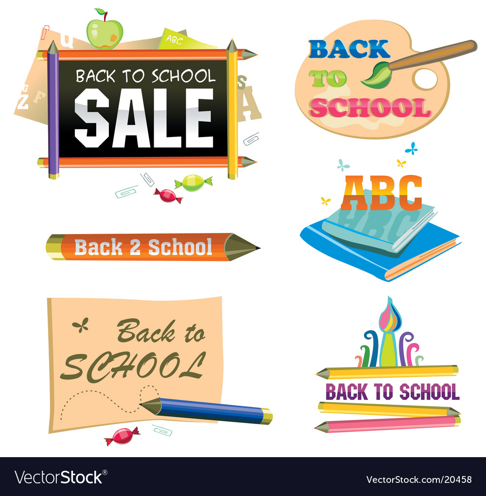 Back to school icon vector