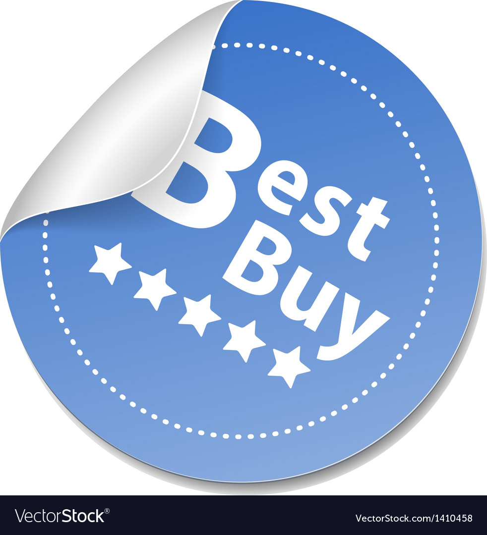 Best buy sticker vector